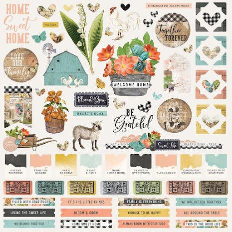Simple Stories Sticker Sheet 12X12 - SV Farmhouse Garden