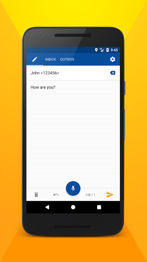 Write SMS by voice PRO- screenshot