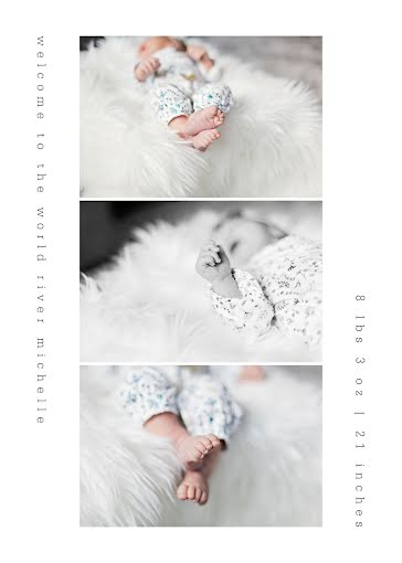 River's Birth Announcement - New Baby Announcement Template