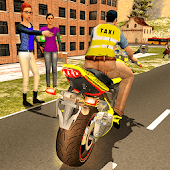 Sports Bike Taxi Sim 3D - Free Taxi Driving Games