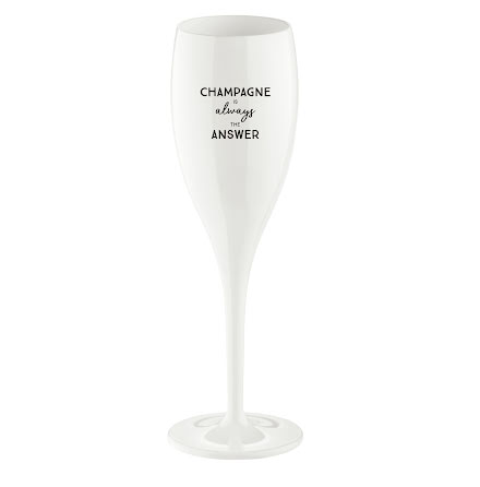 Champagneglas med print 6-pack 100ml, Champagne Is The Answe