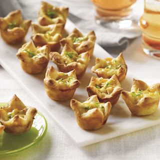 Turkey and Brie Puff Pastry Bites.