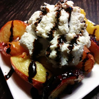 Grilled Stone Fruit with Ricotta and Balsamic Fig Glaze