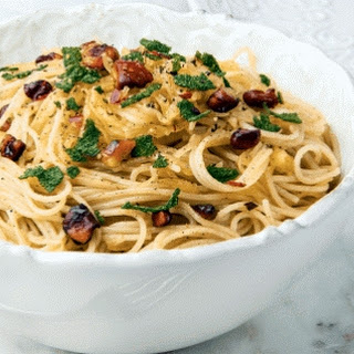 Spaghetti Squash Pasta With Walnut Brown Butter Sauce