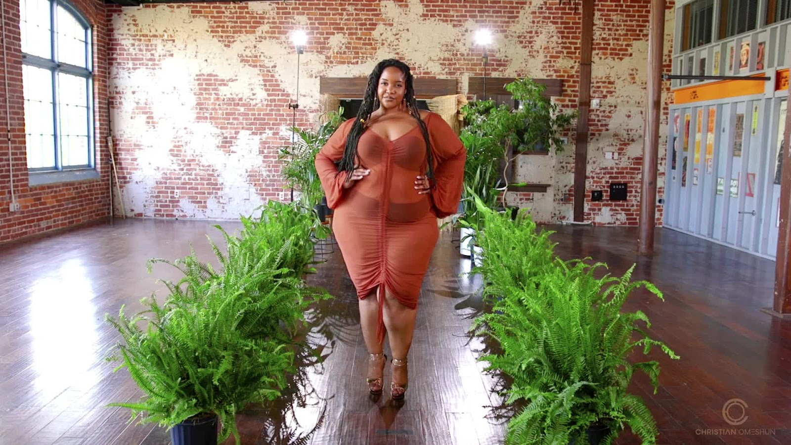 Image from Christian Omeshun's fashion presentation at The Cultivate Awards