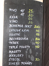 Photo: Beer (Pivo) came in two strengths.  Kava is like champagne.  Vino is vino.