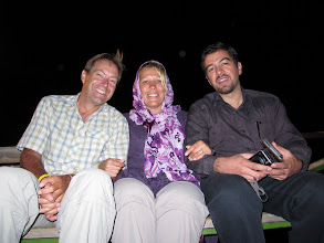 Photo: Day 150 -  Rog, Dee & Saeid at Chalidareh Dam in Torqabeh