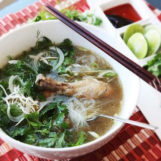 30-Minute Pressure Cooker Pho Ga (Vietnamese Chicken Noodle Soup).