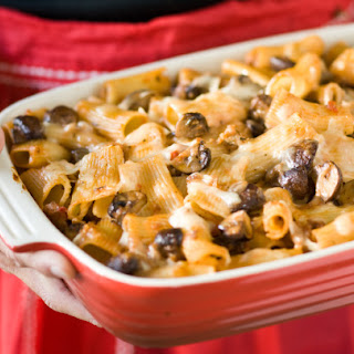Baked Pasta with Sausage, Mushrooms and Fontina