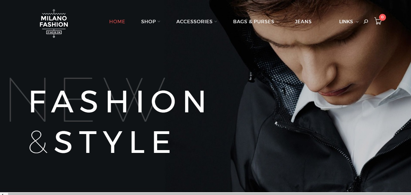Magento clothing theme Milano
