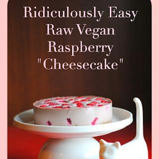 Raw Vegan Raspberry Cheesecake