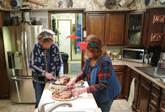 Photo: finishing up the turky platter