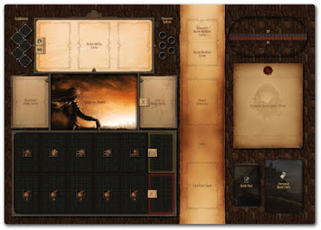 Gloomhaven Playmat Set 2-players (non-official) Deluxe - stickade kanter!