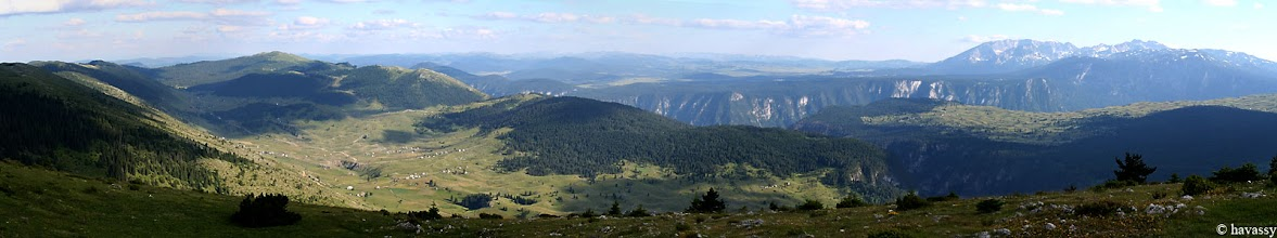 Photo: Kilátás a Tara- és a Draga-szurdokra Jelov Panjból