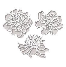 Tim Holtz Sizzix Thinlits Die Set 3PK - Cutout Blossoms 19-01