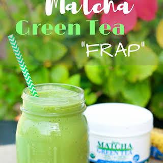 "Matcha Green Tea Smoothie (""Frap"")."