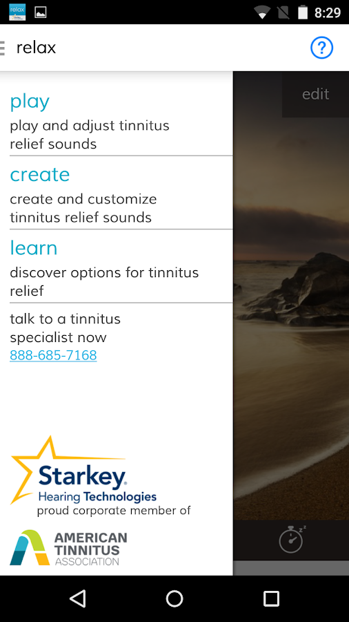 Starkey Relax- screenshot