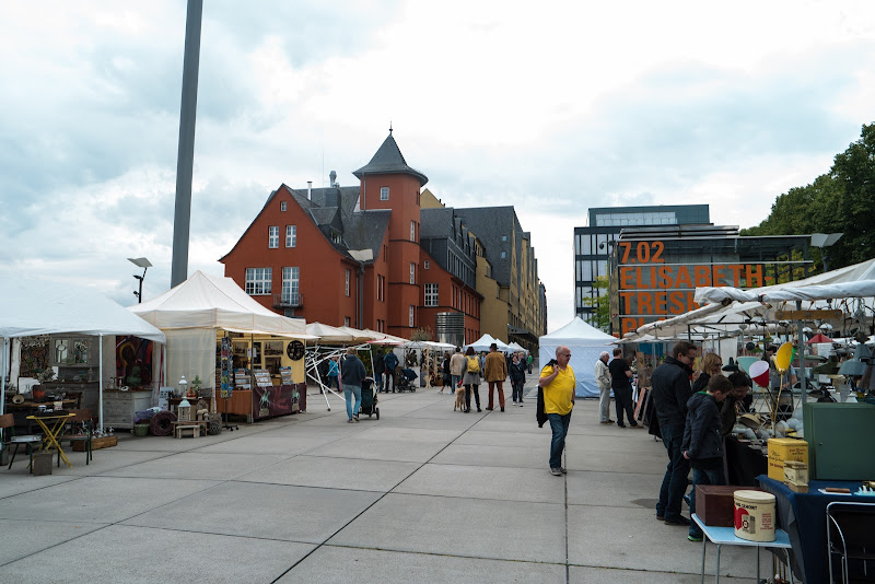 The market on the south end of the Rheinauhafen