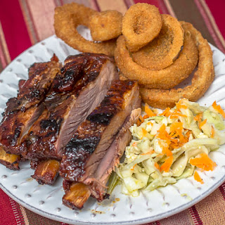 Grilled Sweet & Spicy Ribs with Browned Butter Sauce.
