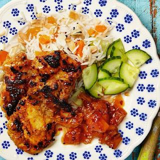 Flattened Tandoori Chicken Thighs With Mango Relish