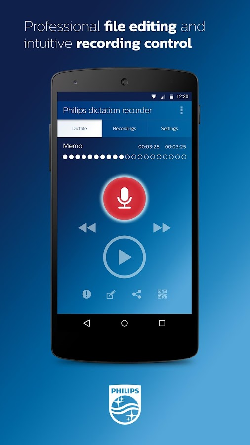 Philips Dictation Recorder- screenshot