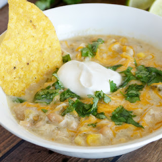 Easy Creamy White Chicken Chili {Freezer Meal}
