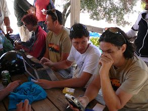 Photo: Algodonales 28 julio. Preparando la manga.