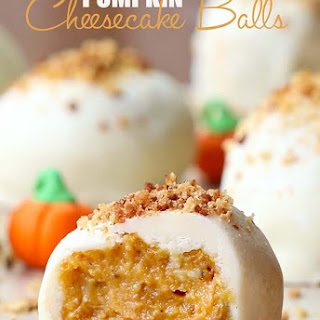 Pumpkin Cheesecake Balls