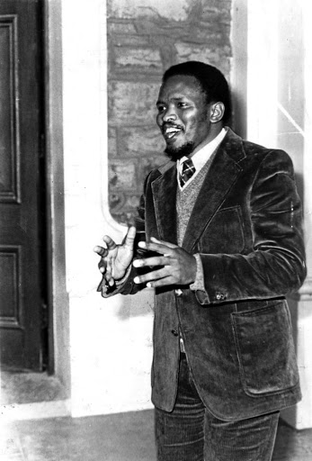 Steve Biko outside the King William's Town magistrate's court in July 1977, two months before he was killed. / Daily Dispatch