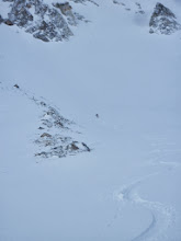Photo: Catherine skiing a good long pitch