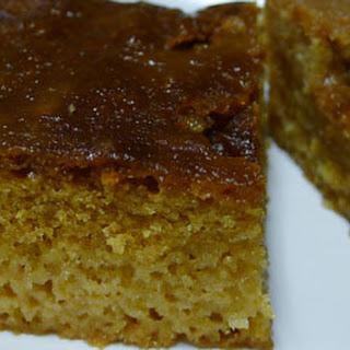 African Malva Pudding Poke Cake.