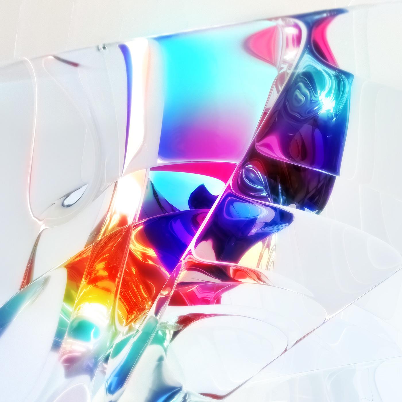 3D cinema 4d digital paint glass paint