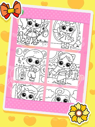 Coloring dolls. Screenshot