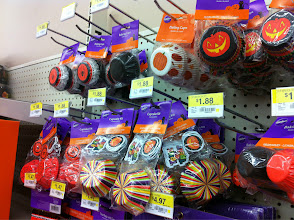 Photo: I went looking for some mini cupcake wrappers, and while I didn't see any at my WalMart but the full size cupcake options were plentiful!