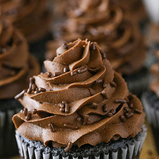 Moist Homemade Chocolate Cupcakes.
