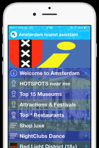 Screenshot 1 Amsterdam Guide
