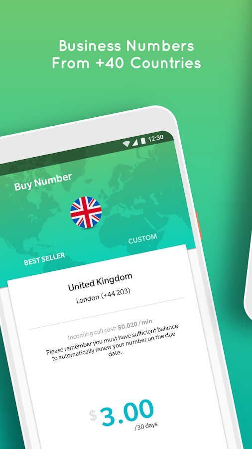 CallNow Lite-International Business Numbers, Calls- screenshot