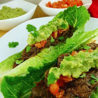 Chipotle Copycat Beef Barbacoa Lettuce Wraps (Paleo)