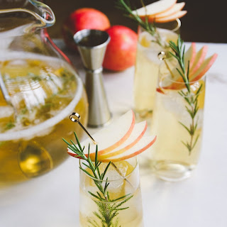 White Wine, Rum & Apple Cider Pitcher Cocktail.