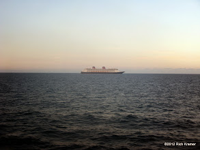 Photo: Underway later in the evening, Disney Dream passed us on the way to Nassau.