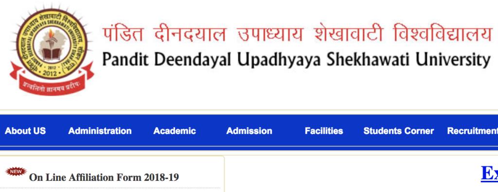 Shekhawati University Sikar Time Table 2019