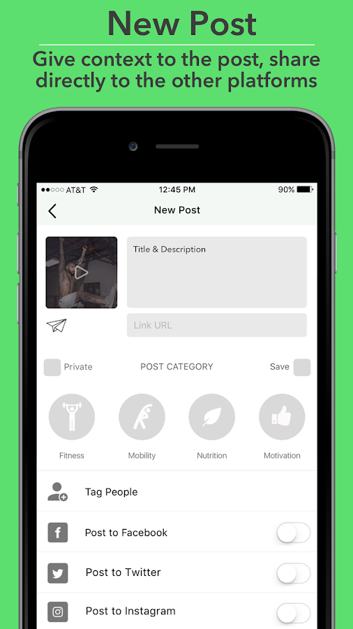 FitChirp - A Health & Fitness Sharing Community- screenshot