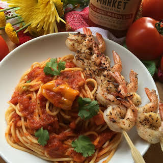 Marinara Habanero Shrimp Pasta.