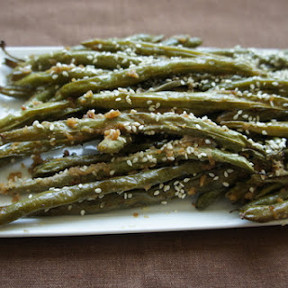 Green Beans with Honey Tahini Glaze