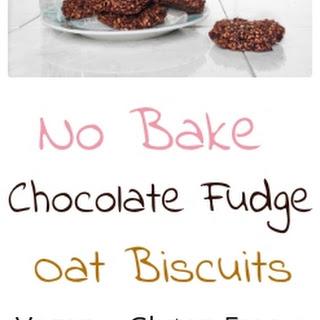 No Bake Healthy Chocolate Fudge Oat Biscuits.
