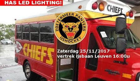 Zoetermeer Panters - Chiefs Leuven: zaterdag 25/11/2017