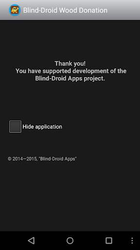Blind-Droid Wood Donation