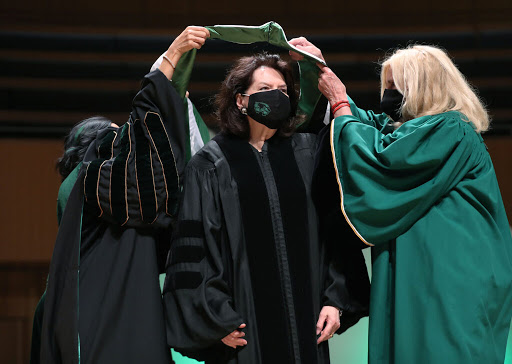 Sister Nelson offers UVU graduates advice: Be prepared to learn from life's surprises and eliminate contention