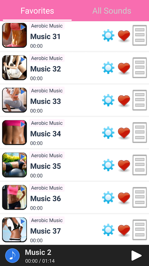 Aerobic Music- screenshot