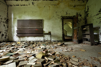 Photo: Library in Boys' Dormitory on North Brother Island.